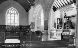 The Church Interior c.1955, Musbury