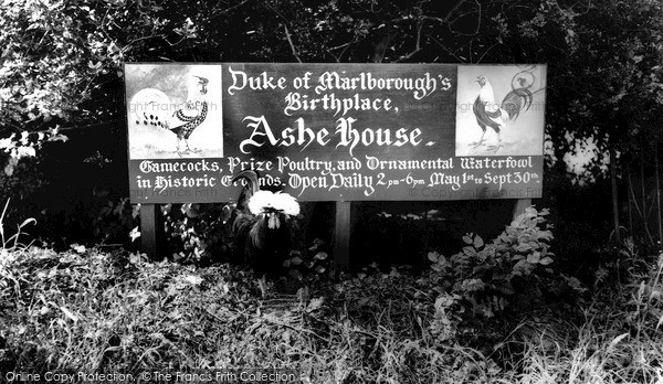 Musbury, the Entrance to Ashe House c1960