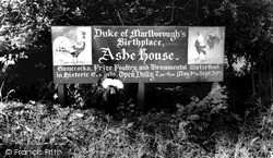 The Entrance To Ashe House c.1960, Musbury