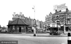 Muswell Hill, The Bus Terminus c.1965