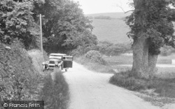 Mylor, A Car By The Creek 1930