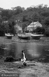 Mylor, Girl By The Creek 1930
