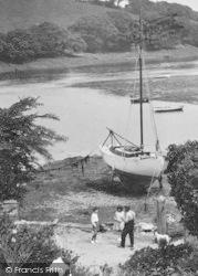 Mylor, The Creek, Sailing Boat 1930