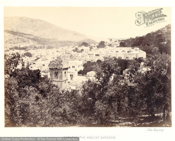 Photo of Nablus, The Ancient Shechem 1857