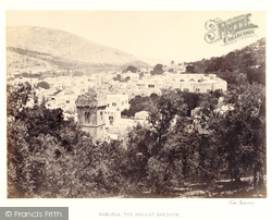 Nablus, The Ancient Shechem 1857