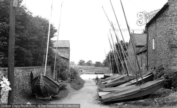 Photo of Naburn, River Lane c1955