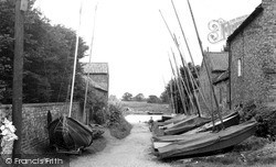 Naburn, River Lane c.1955