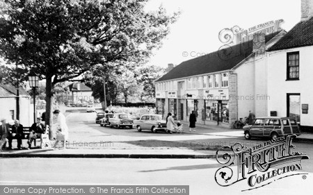 Nailsea, the Post Office and Green c1960