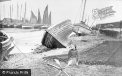 Nairn, Boats In The Old Harbour c.1890