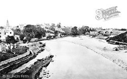 Nairn, From The River Nairn 1880