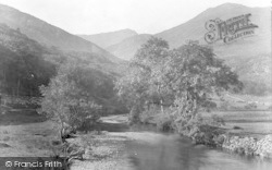 Gwynant Valley And Crinkle Crags 1931, Nant Gwynant