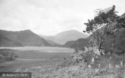 Lake Dina And Moel Hebog c.1935, Nant Gwynant