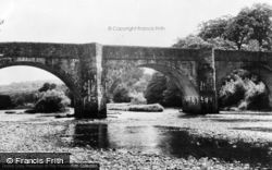 The River Towy And Bridge c.1955, Nantgaredig