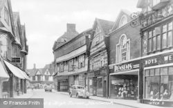 Nantwich, Crown Hotel And High Street c.1955