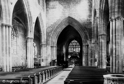 Nantwich, Parish Church Nave East 1898