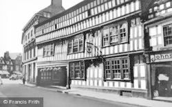 Nantwich, The Crown Hotel c.1955