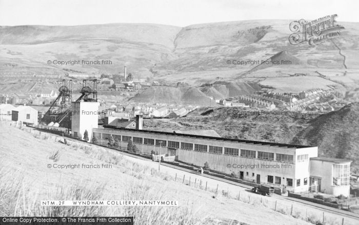 Photo of Nantymoel, Wyndham Colliery, Pit Head Baths c.1955