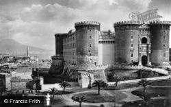 Castle Nuovo And Mount Vesuvius c.1920, Naples