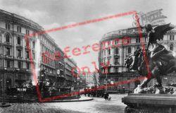 Piazza Giovanni And Neptune Fountain c.1920, Naples