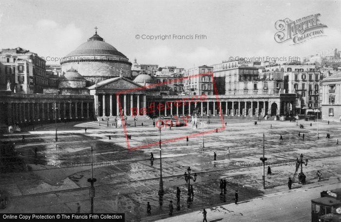 Photo of Naples, Piazza Plebiscito And San Francesco Di Paola c.1920