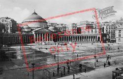 Piazza Plebiscito And San Francesco Di Paola c.1920, Naples
