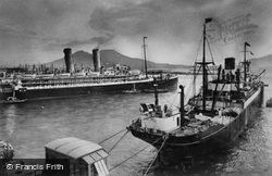 Ships In The Port c.1920, Naples