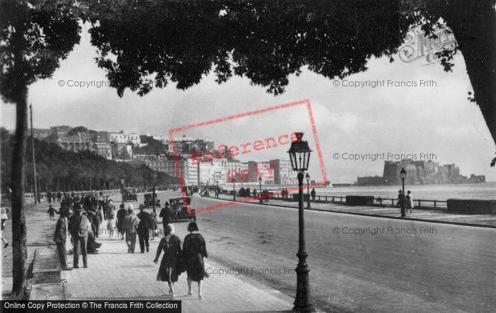 Photo of Naples, Via Caracciolo And Castel Dell'ovo c.1920