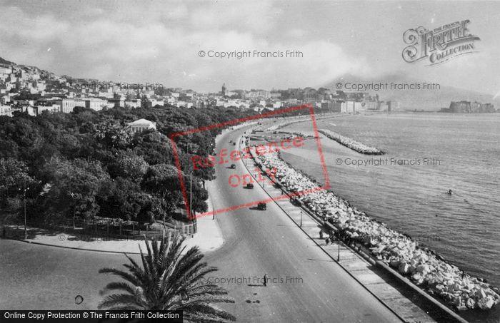 Photo of Naples, Via Caracciolo c.1920