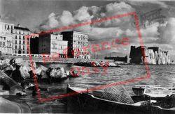 Via Partenope And Castel Dell'ovo c.1920, Naples