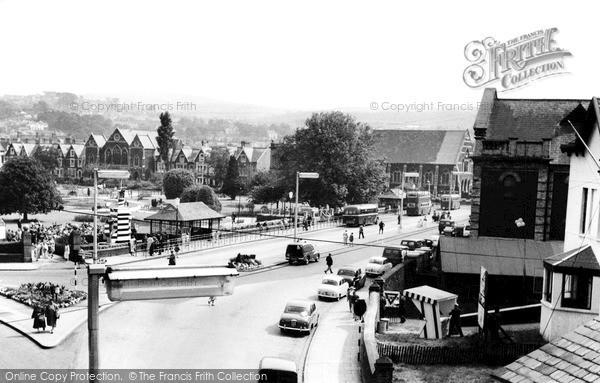 Photo of Neath, looking towards Victoria Gardens c1960