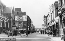 Neath, Orchard Street And Gwyn Hall c.1950