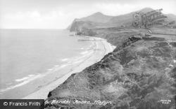 Nefyn, The Beach And Berdsi Rocks c.1950