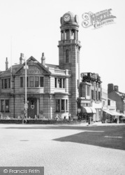 Nelson, Clock Tower And Barclays Bank 1961