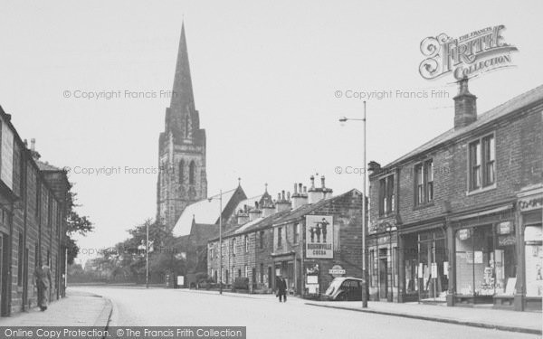 Photo of Nelson, Manchester Road And St Mary's Church 1950