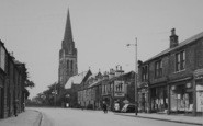 Nelson, Manchester Road And St Mary's Church 1950
