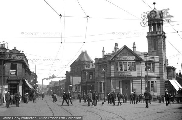 Photo of Nelson, Scotland Road And Nelson Centre c.1910