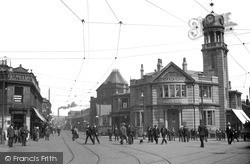 Nelson, Scotland Road And Nelson Centre c.1910