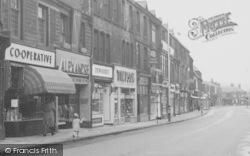 Nelson, Scotland Road, Parade Of Shops 1957
