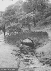 Nelson, The Bridge, Catlow Bottoms c.1955