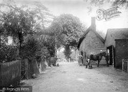 Nether Alderley, The Smithy, Bradford Lane 1896