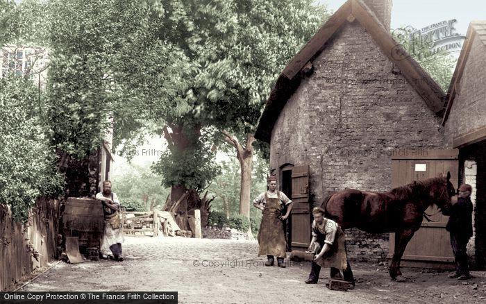 Photo of Nether Alderley, The Village Smithy, Bradford Lane 1896