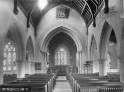 Nether Stowey, Church Interior 1935