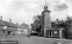 Clock Tower And George Hotel 1929, Nether Stowey