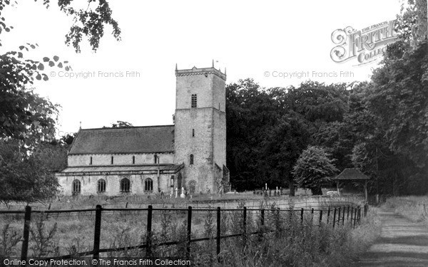Photo of Netheravon, All Saints Church And Lych Gate c.1955