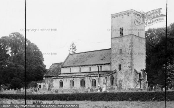 Photo of Netheravon, All Saints Church c.1955
