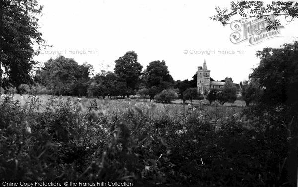 Photo of Netheravon, Church And Country Scene c.1955