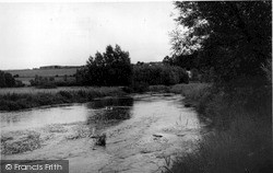 Netheravon, The River Avon c.1955