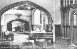 Netley, The Castle, Hall And Fireplace c.1960