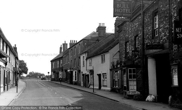 Photo of Nettlebed, Bull Hotel And High Street c.1955