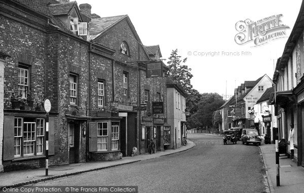 Photo of Nettlebed, The Bull Hotel And High Street c.1955